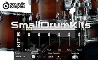 AcousticSamples SmallDrum Kit B
